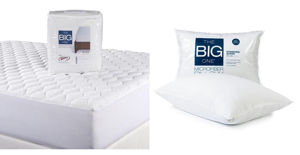 Kohls Cardholders: The Big One Essential Mattress Pad (Queen) + The Big One Microfiber Pillow $15.40 + Free Shipping (or Twin Mattress Pads 2 for $14.68 ($7.34 each wyb 2))