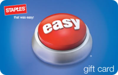 Staples.com - $20 Promo Card with $100 Staples eGC Purchase