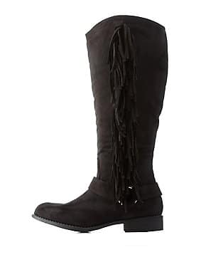 Women's Fringed Western Boots (Black)  $9 + Free Shipping