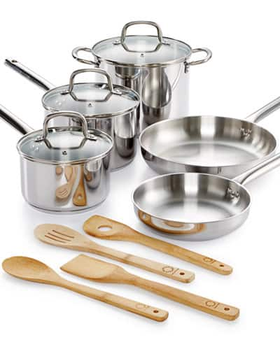 Martha Stewart Collection 12 Pc. Cookware Set for $44.99 + FP