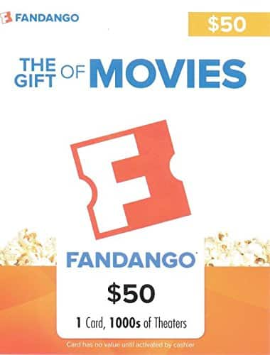 $50 Fandango Gift Card for $40 From Amazon (Lightning Deal)