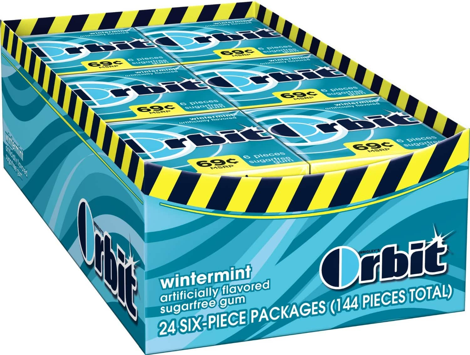 Orbit Wintermint Sugarfree Gum 6 pc, (Pack of 24) $5.11 or less + free shipping