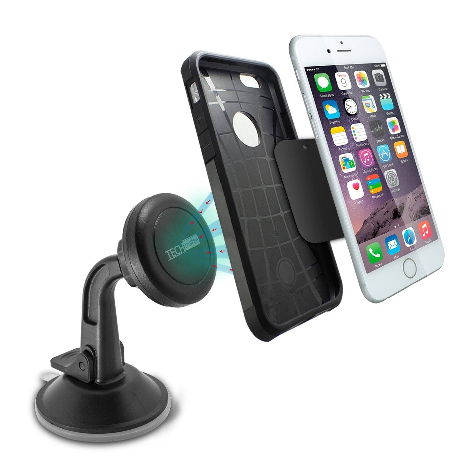 TechMatte MagGrip Dashboard Car Mount Holder for Smartphones  $2 + Free Shipping