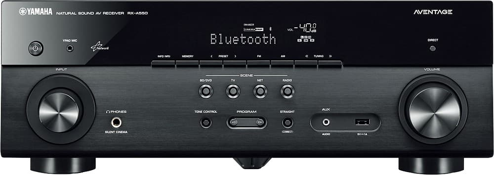 Yamaha -RX-A550BL - AVENTAGE 5.1-Ch. Network-Ready 4K Ultra HD and 3D Pass-Through A/V Home Theater Receiver - Black @ Best Buy $249.98