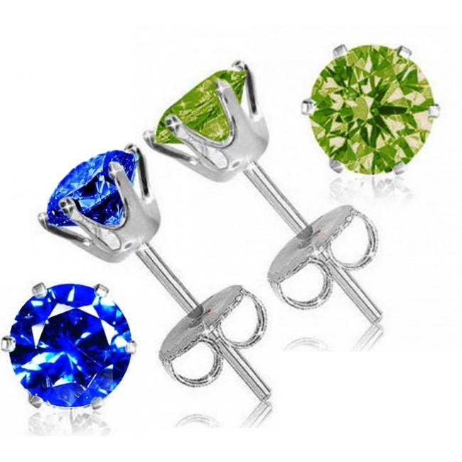 Sterling Silver Oval Peridot Stud Earrings  $4 + Free Shipping