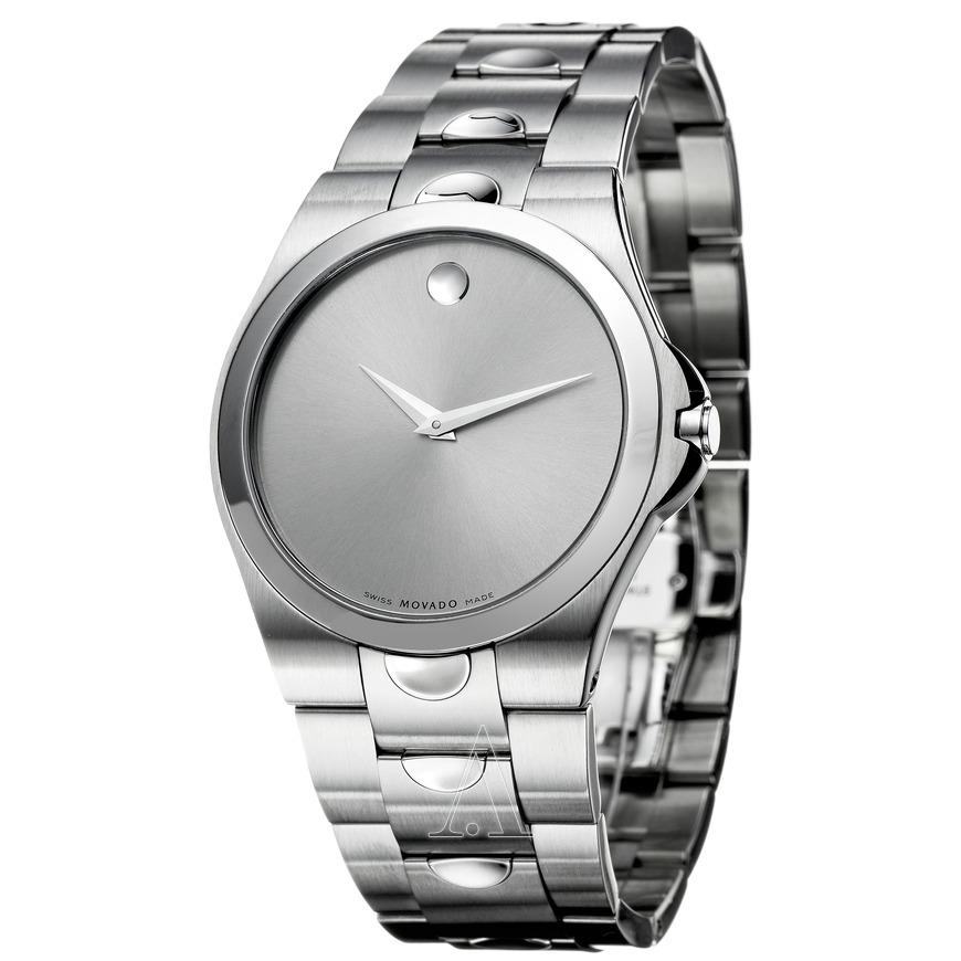 Movado Men's Luno Watch w/ SS Band (Silver Dial) $299 + Free Shipping AC