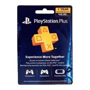 1-Year PlayStation Plus Membership Card  $40 + Free Shipping