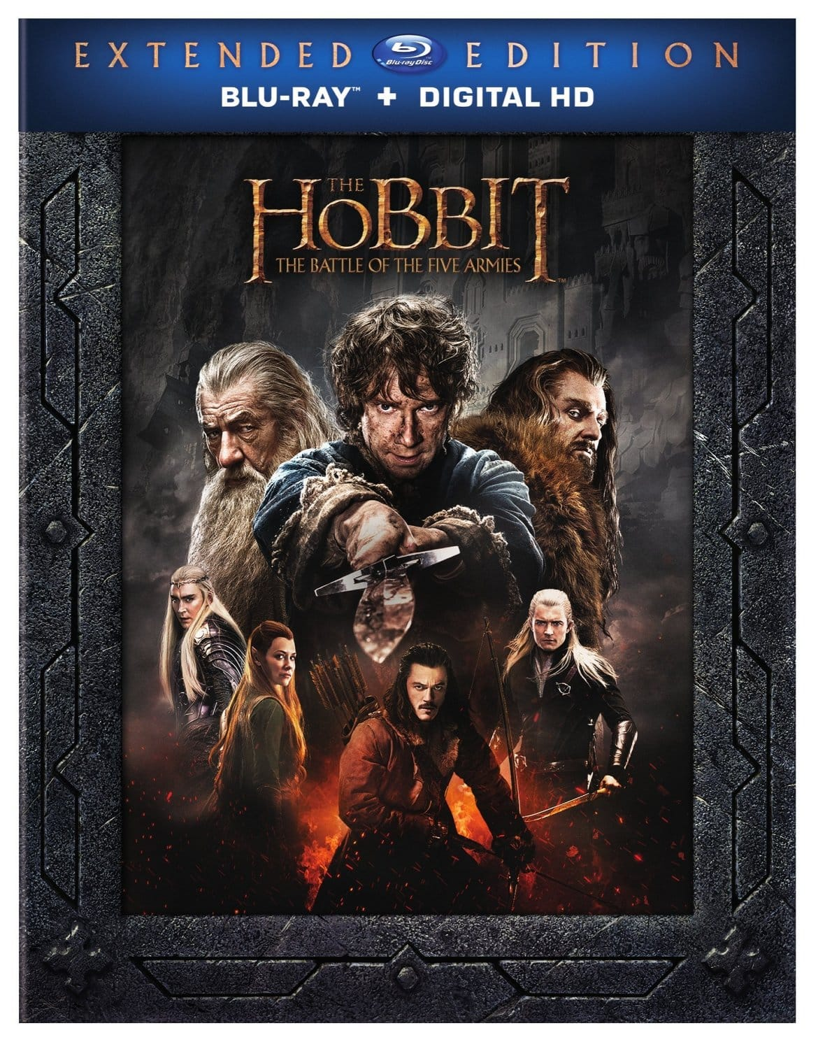 The Hobbit: The Battle of Five Armies Extended Edition (BD) [Blu-ray + Digital) $12.09 @ Amazon