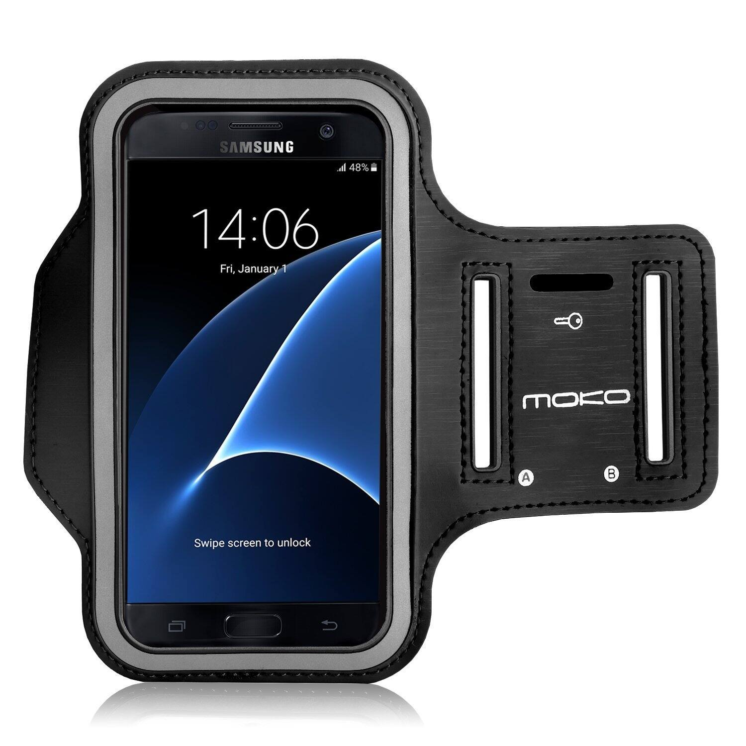 "MoKo Premium Sports Water Resistant & Sweat-Proof Exercise Armband for Cell Phone Up To 5.2"" (Black) $0.99 + Free Shipping w/ Prime Amazon.com"