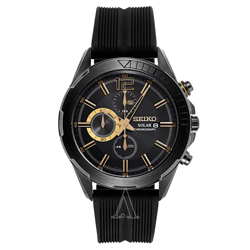 Seiko Men's Recraft Solar Series Chronograph Watch $109 + free shipping