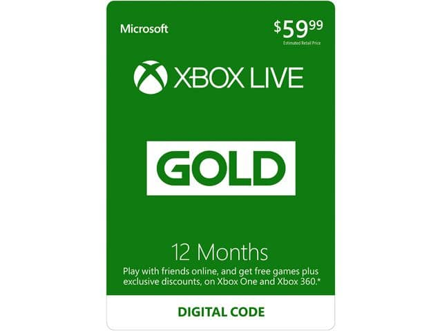 Xbox Live 12 month 32.99 @ Newegg