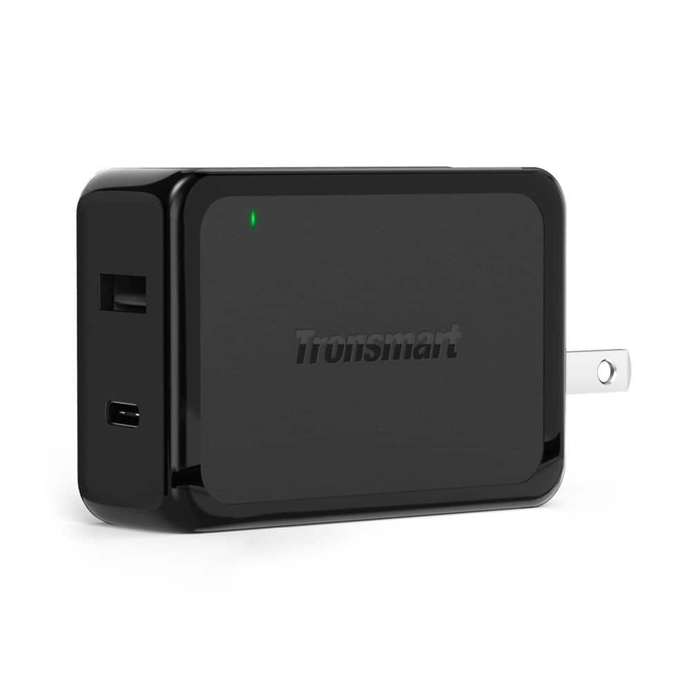 Tronsmart 30W Dual USB Type-C Wall Charger with QC 3.0 for $10.95 AC