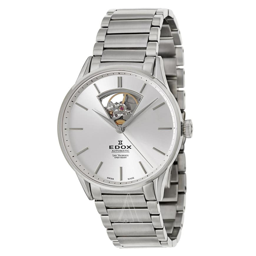 Edox Men's Les Vauberts Open Heart Automatic Watch w/ Stainless Steel Bracelet $379 + Free Shipping