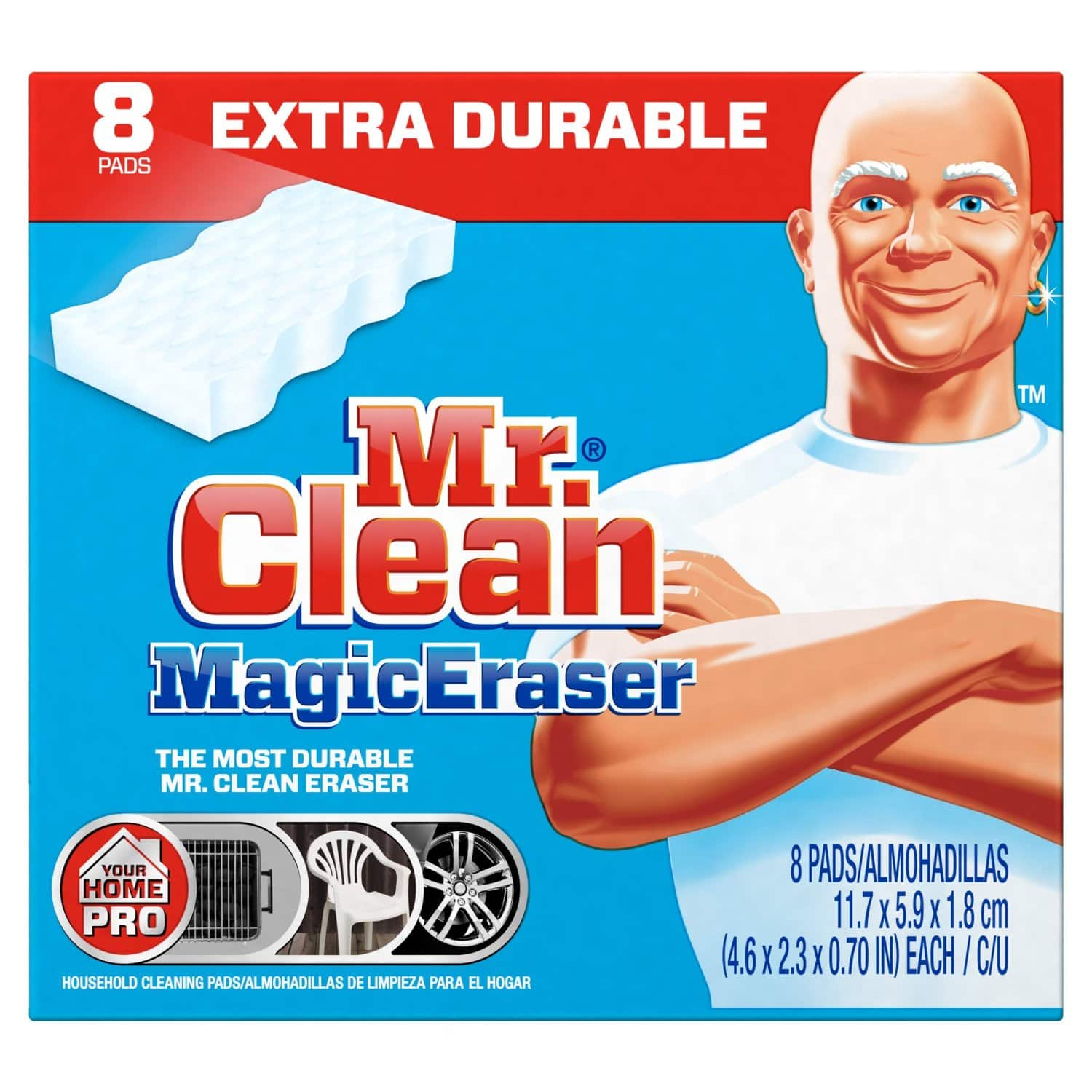 8-Pack Mr. Clean Magic Eraser Extra Power Cleaning Sponges  $5.35 + Free Shipping