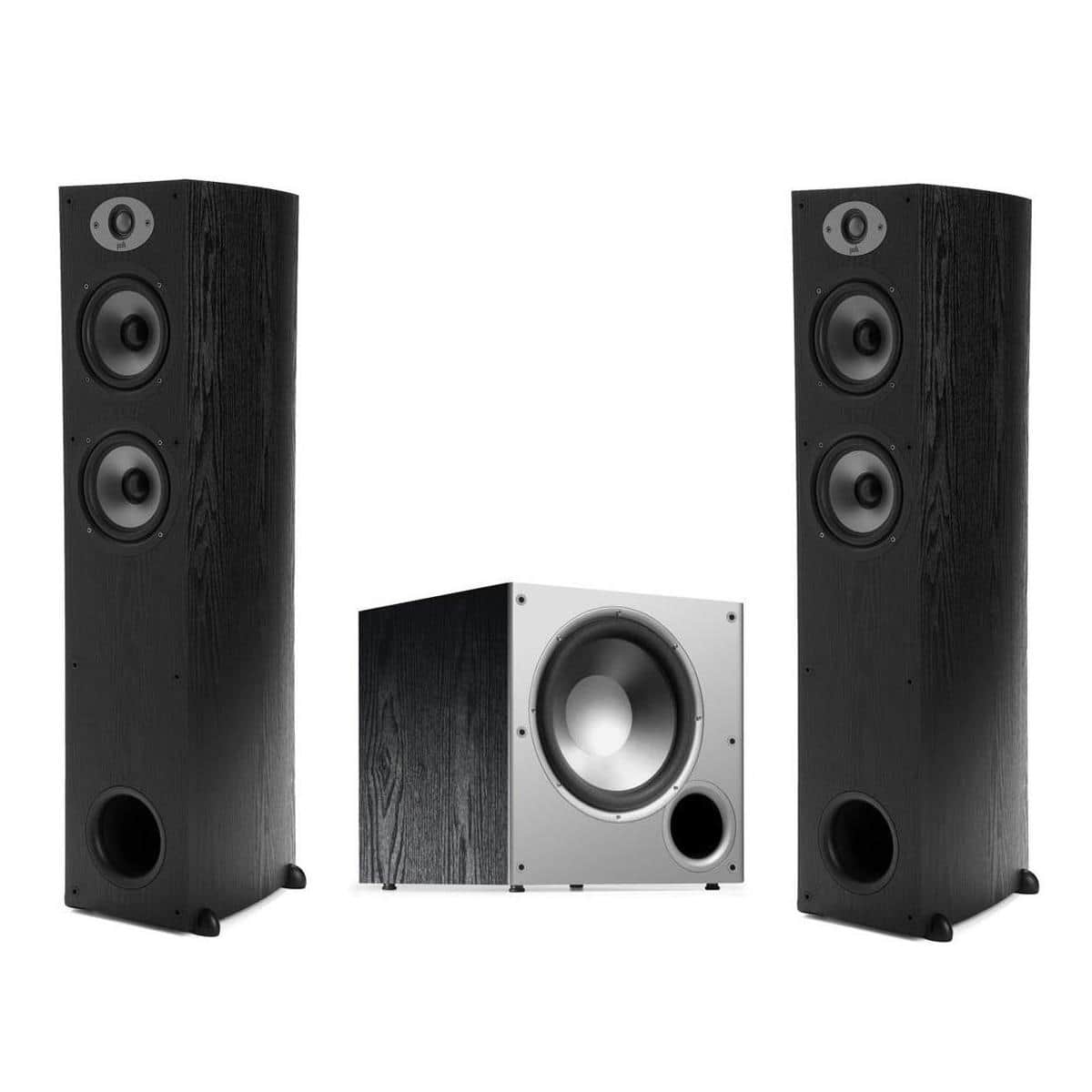 "Polk Audio TSx 330T 2-Way Floorstanding Tower Speakers (pair) + Polk Audio PSW10 10"" Powered Subwoofer $320 + free shipping"