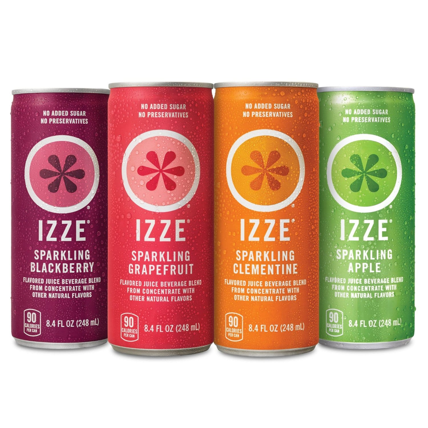 IZZE Sparkling Juice 4 Flavor Variety Pack, 8.4 Ounce (Pack of 24) - $12.39 AC & S&S ($10.84 AC & 5 S&S Orders) + Free Shipping - Amazon