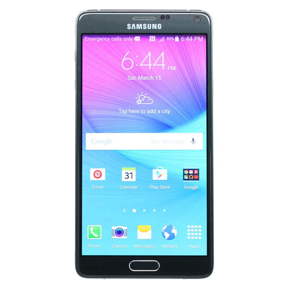Samsung REFURBISHED Galaxy Note 4 SM-N910T 32GB Smartphone for T-Mobile Black or White + $52 SWYR for $220 (YMMV)