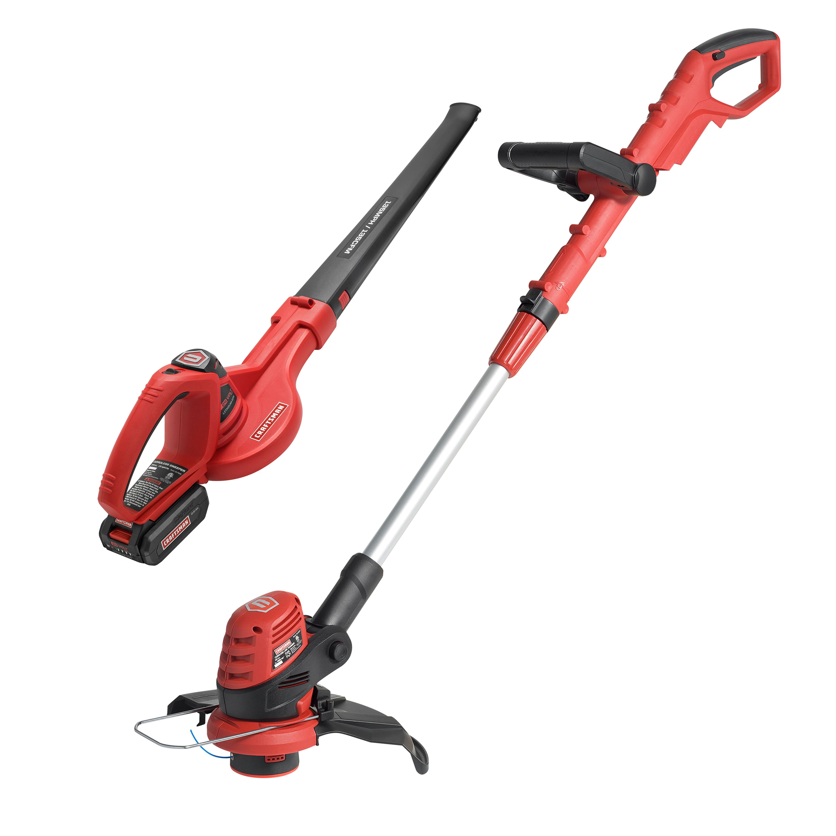 "Craftsman 24-Volt Max Lithium-Ion Cordless 10"" Line Trimmer & Sweeper Combo Kit $69.99 + Free Shipping"