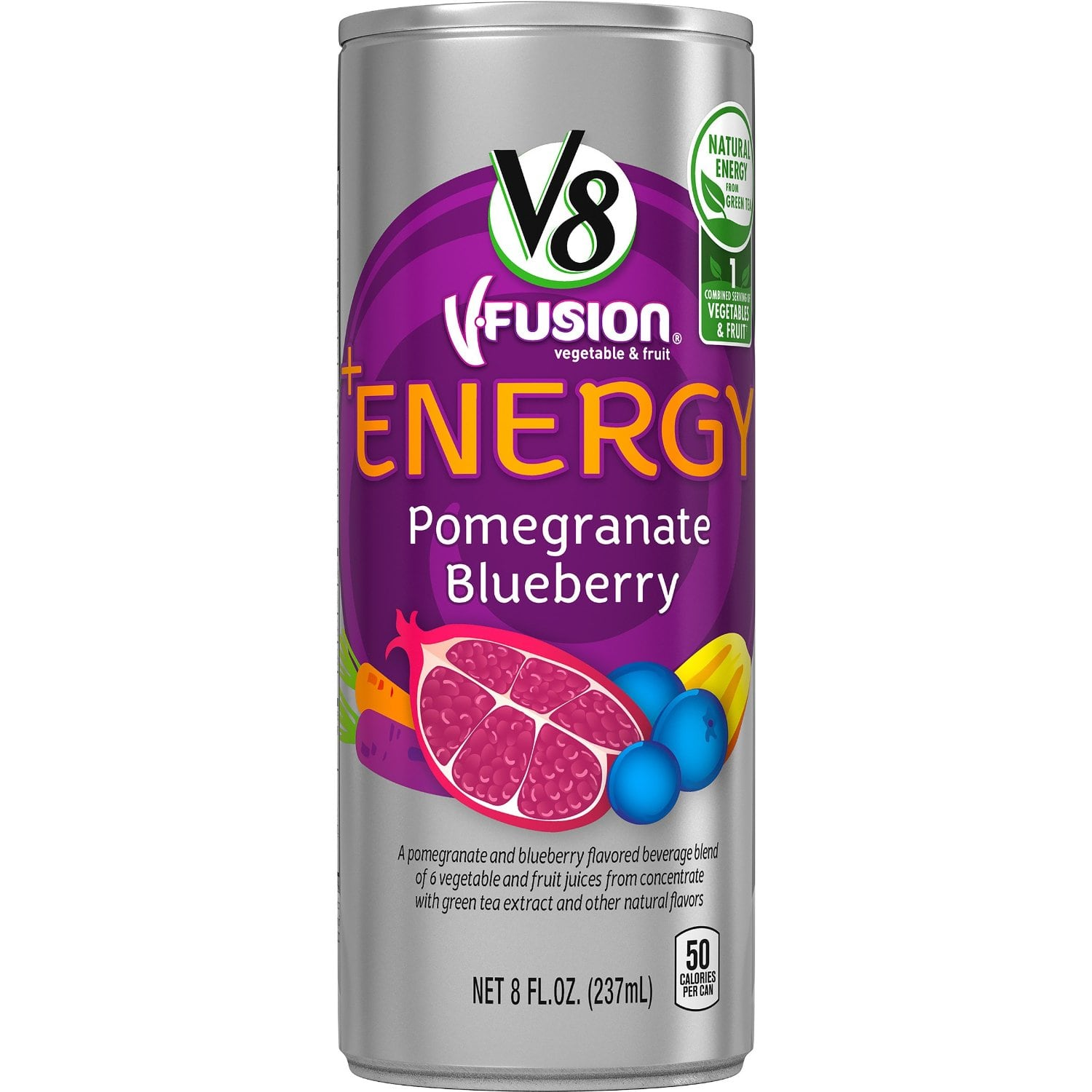 Prime Members: 24-Pack of 8oz V8 V-Fusion +Energy Drink $8.75 + Free Shipping