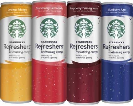 Prime Members: 12-Pack 12oz. Starbucks Refreshers (4 Flavor Variety Pack)  $15 & Much More + Free S&H