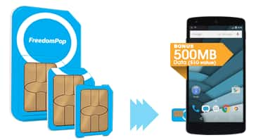 Freedompop Global 3-in-1 SIM Kit + Free Mobile Service  $1 + Free Shipping