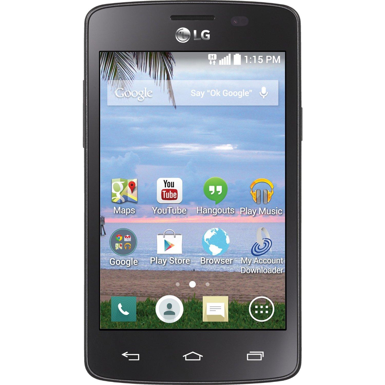 Prime Members: TracFone LG Sunrise No-Contract Smartphone (Refurb)  $5 & More + Free S&H