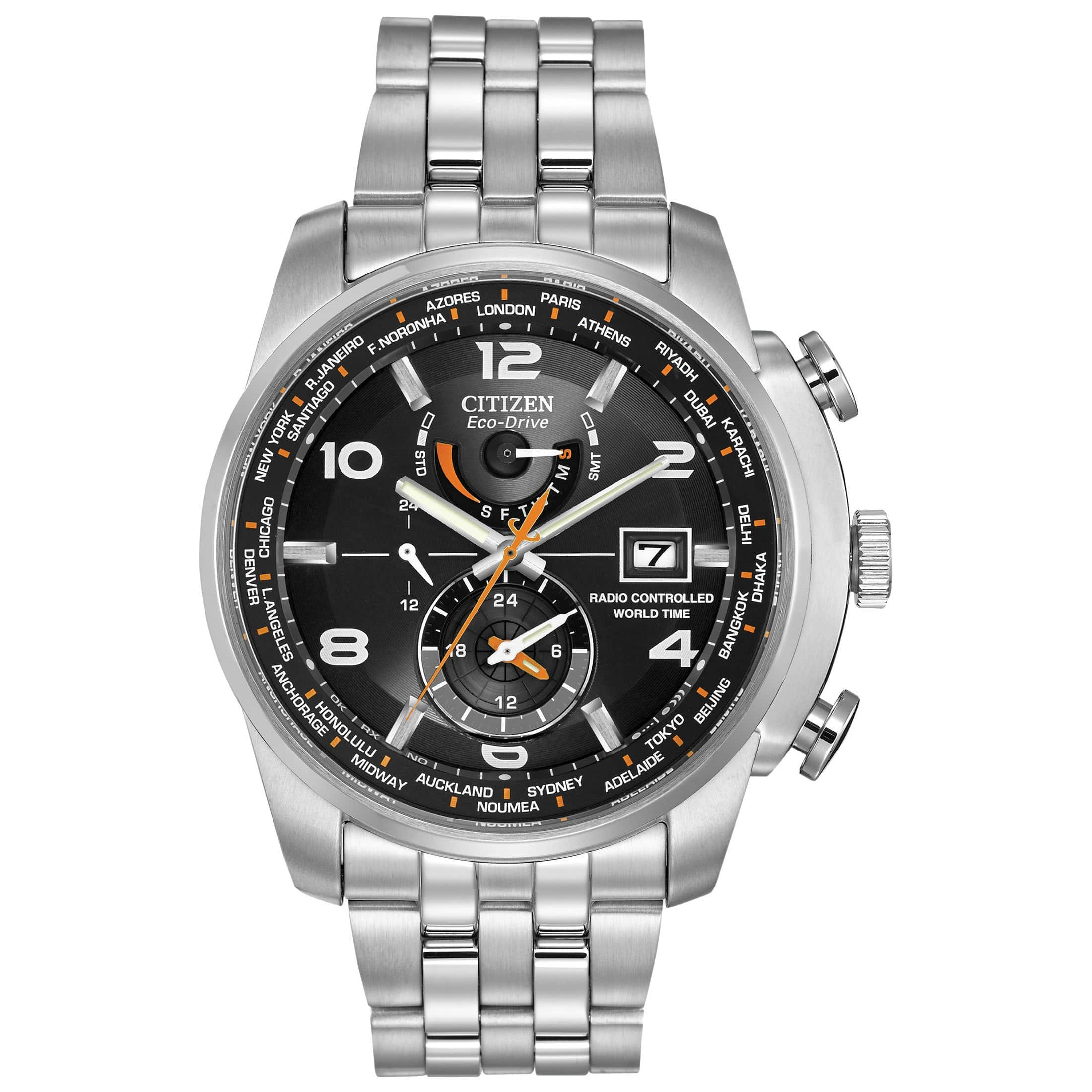 Amazon - Citizen Men's AT9010-52E World Time A-T Stainless Steel Eco-Drive Watch - $201.83 (Prime Members Only)