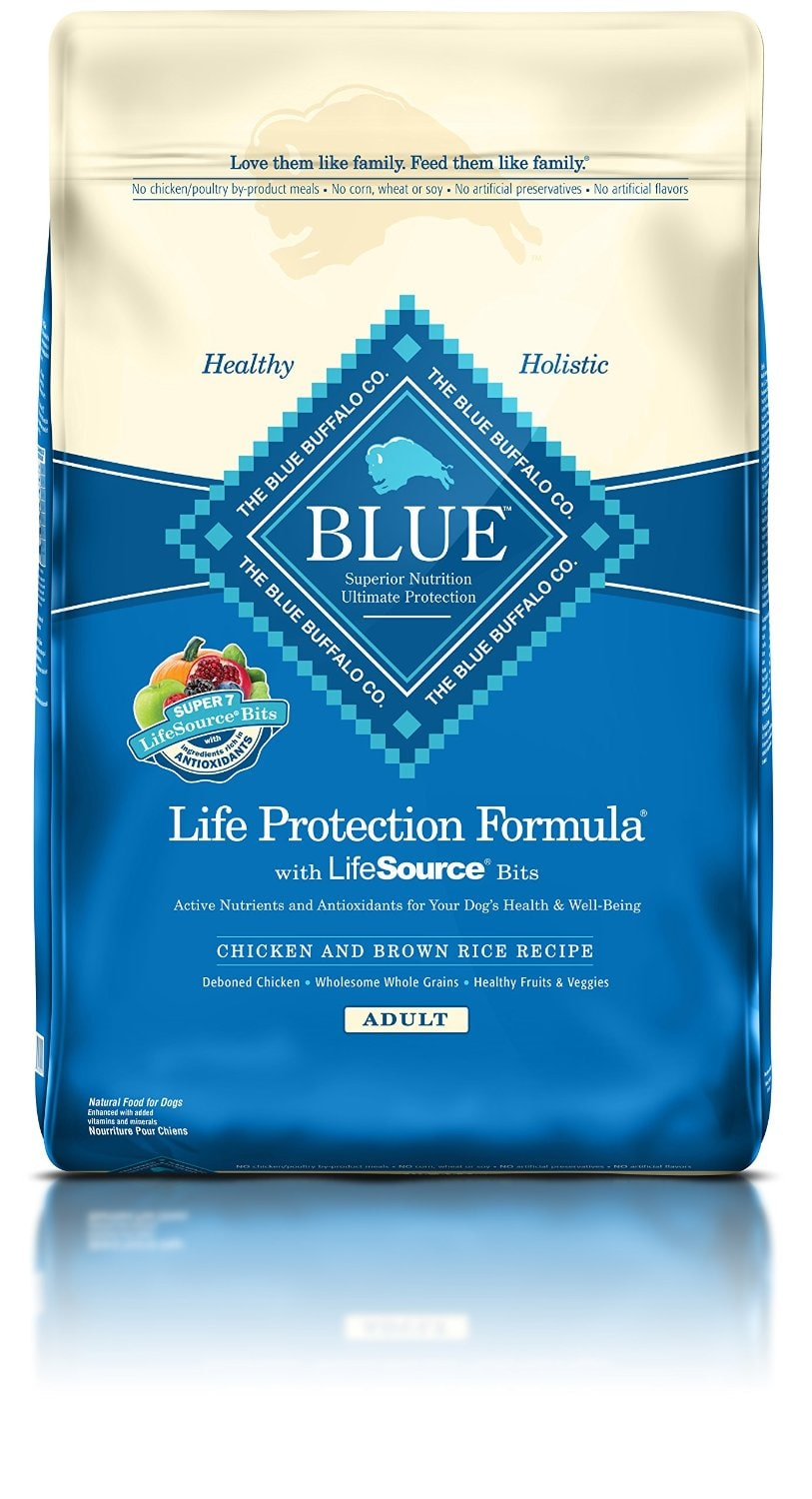 30lb Blue Buffalo Dry Adult Dog Food (Chicken & Brown Rice)  $38.50