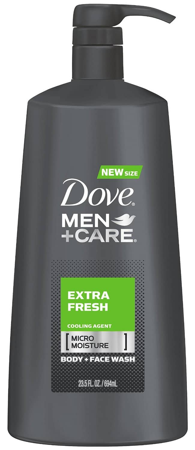 Dove Men+ Care Body Wash with Pump, Extra Fresh 23.5 oz -  As low as $4.09 with S&S - Amazon
