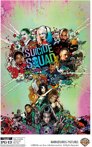Select Blu-Rays + $8 Movie Cash for Suicide Squad Ticket  From $4.90 & More
