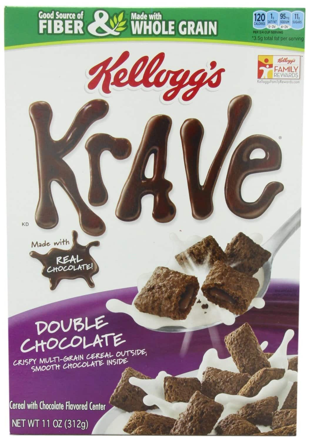 Kellogg's Krave Double Chocolate Cereal, (4Pk) as low as $7.15 after 15% + additional 25% coupon FSSS