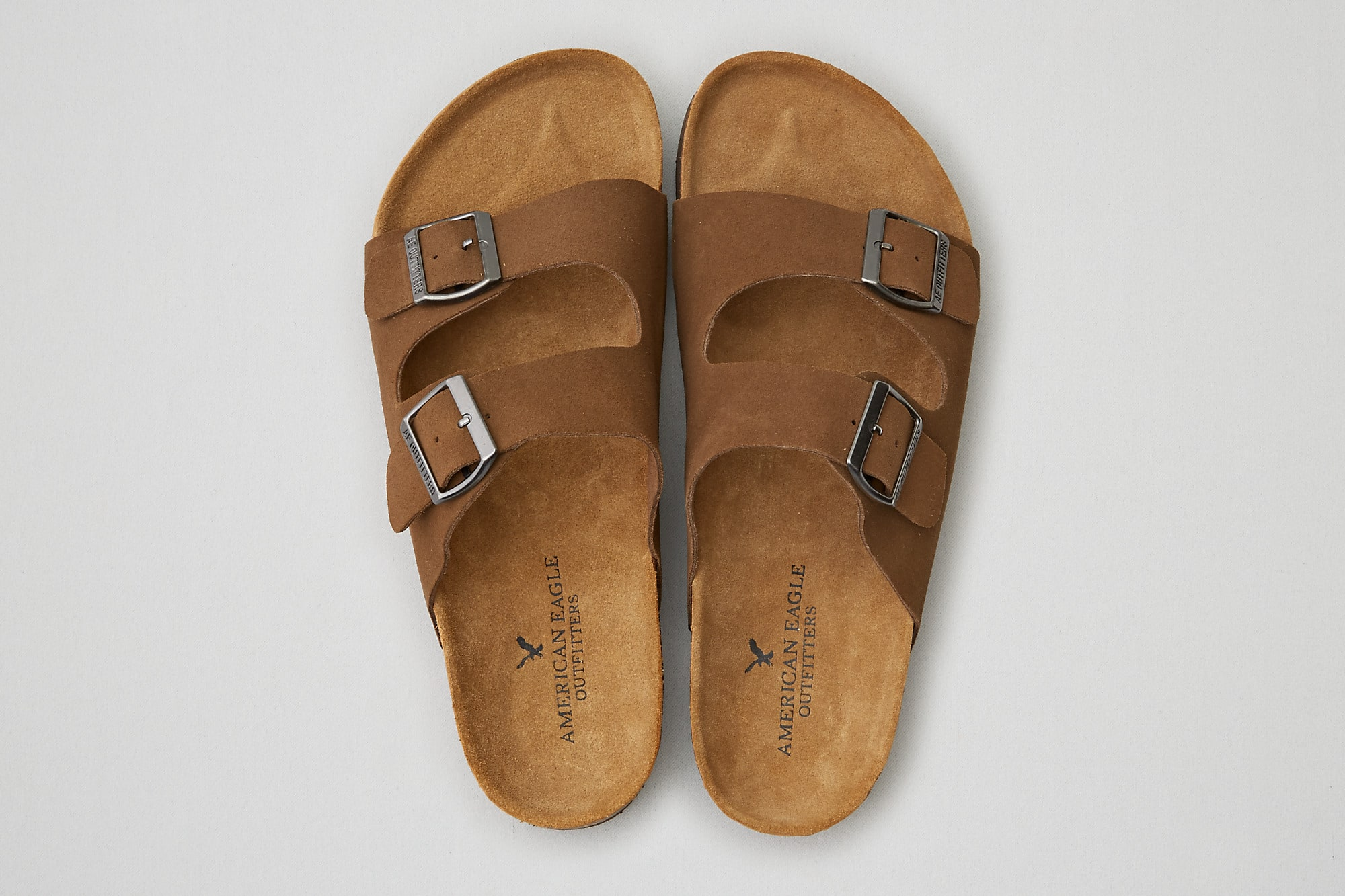AEO Double Buckle Suede Sandals  $10 & Much More