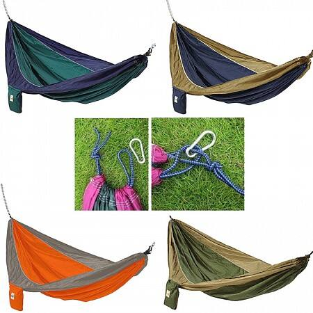 Parachute Hammock w/ Built In Travel Bag  $9 + Free Shipping