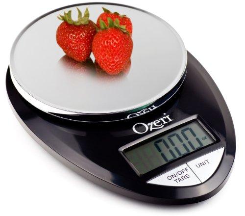 Ozeri Pro Digital Kitchen Food Scale, 1g to 12 lbs Capacity, in Stylish Black - $8.42 AC + TAX