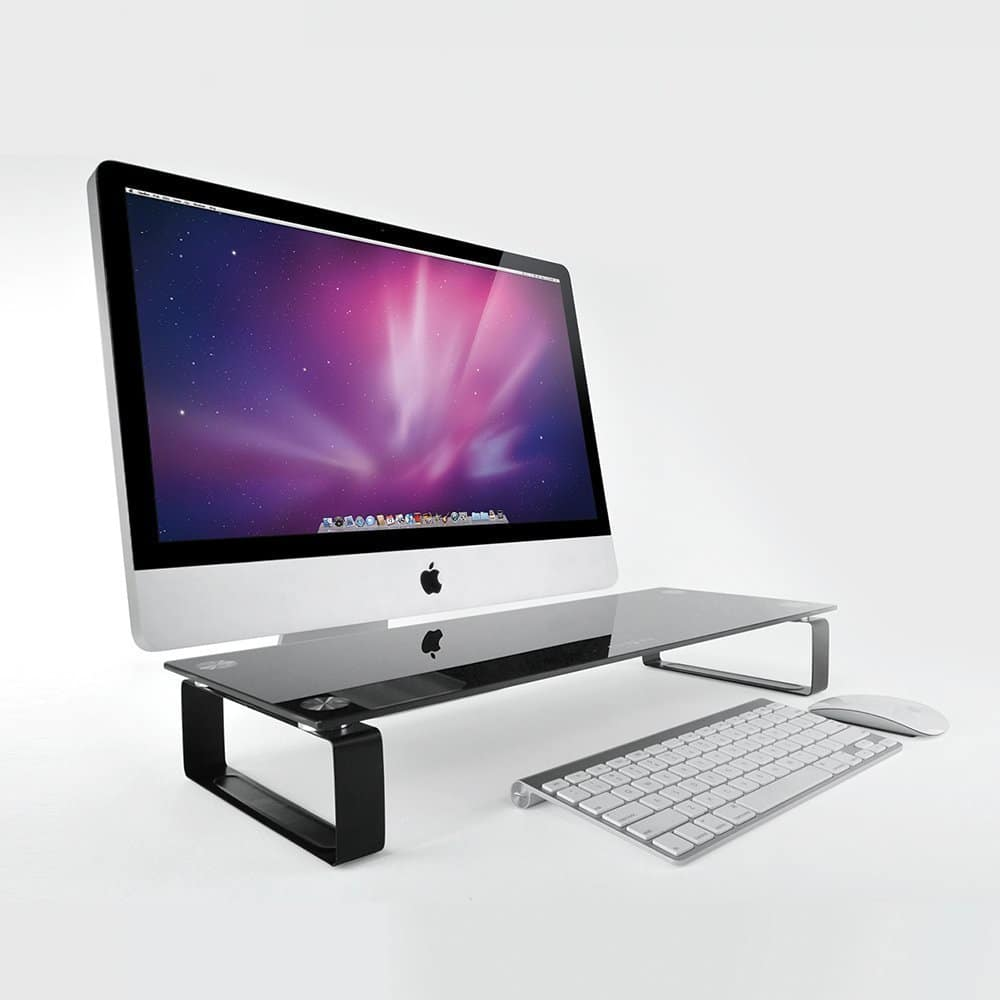 Eutuxia Tempered Glass Classic Monitor Laptop Multimedia Stand $15 + FSSS