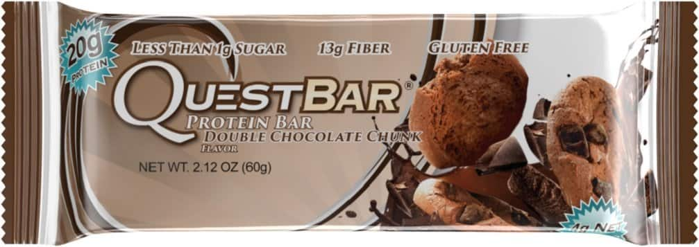 12-Count of 2.1oz Quest Nutrition Protein Bar, Double Chocolate Chunk $2.34 or less + free shipping *act fast*