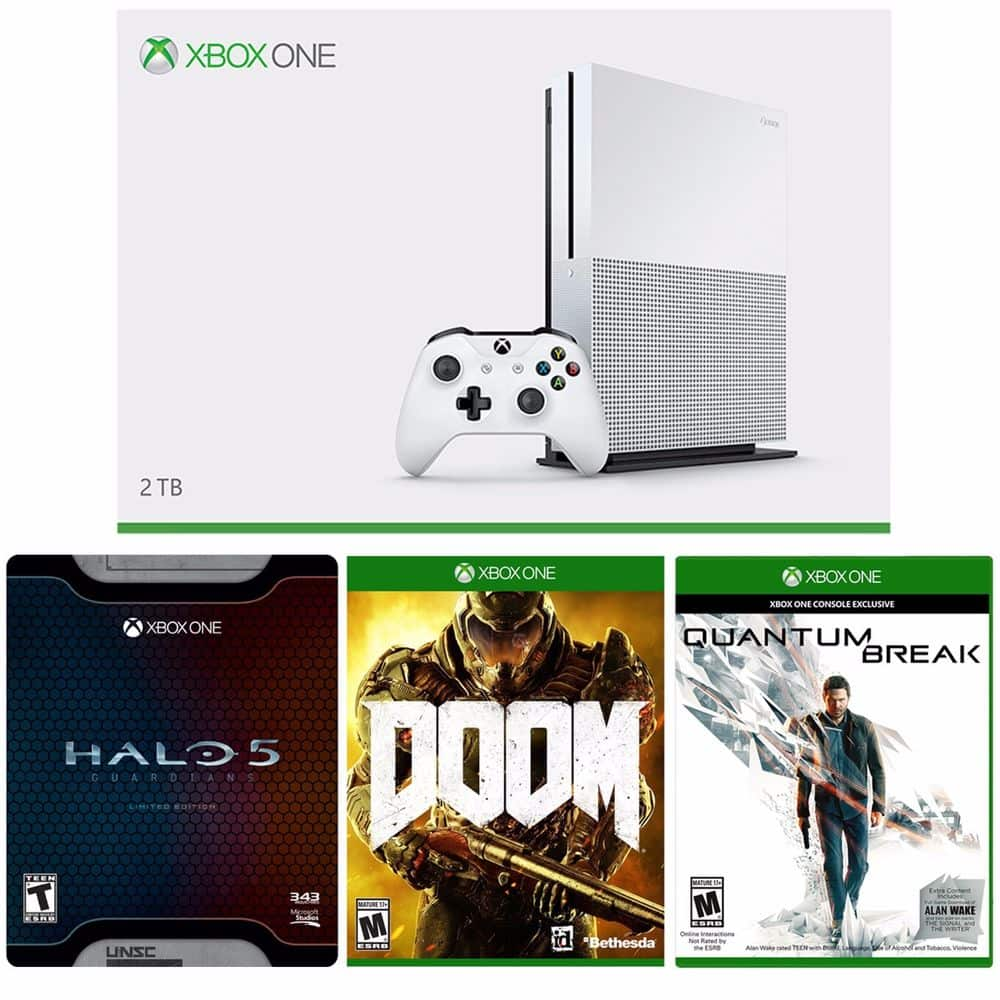 xBox One S 2TB Console + Halo 5 Limited + Doom + Quantum Break $400 + Free Shipping (eBay Daily Deal)