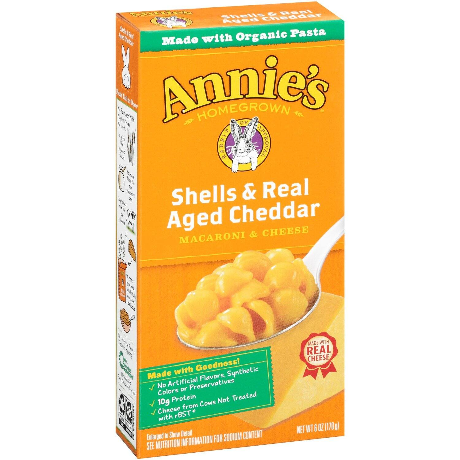 12-Pack Annie's Organic Shells & Real Aged Cheddar Macaroni & Cheese (6oz Box) $10.50 or less + free shipping