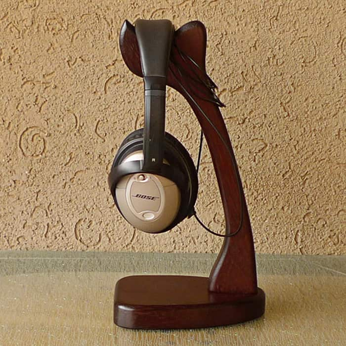 Headphone Stands (Solid Merbau Wood): Dual stand $24, Single stand $10.79 & More + Free shipping