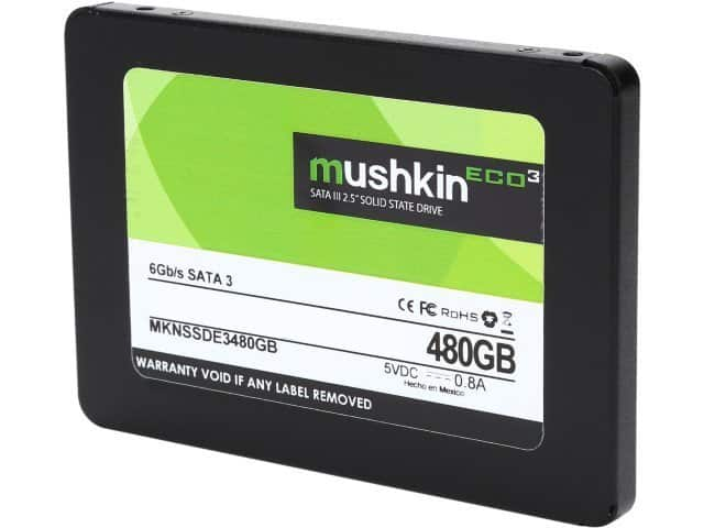 "Mushkin Enhanced ECO3 2.5"" 480GB SATA III TLC Internal Solid State Drive ssd at newegg for $94.99 + Free shipping"