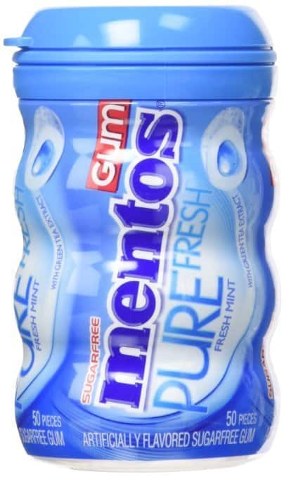 Prime Members: 6-Pack of 50-Pieces Mentos Gum Big Bottle (Pure Fresh Mint) $9.16 or Less + Free Shipping Amazon.com