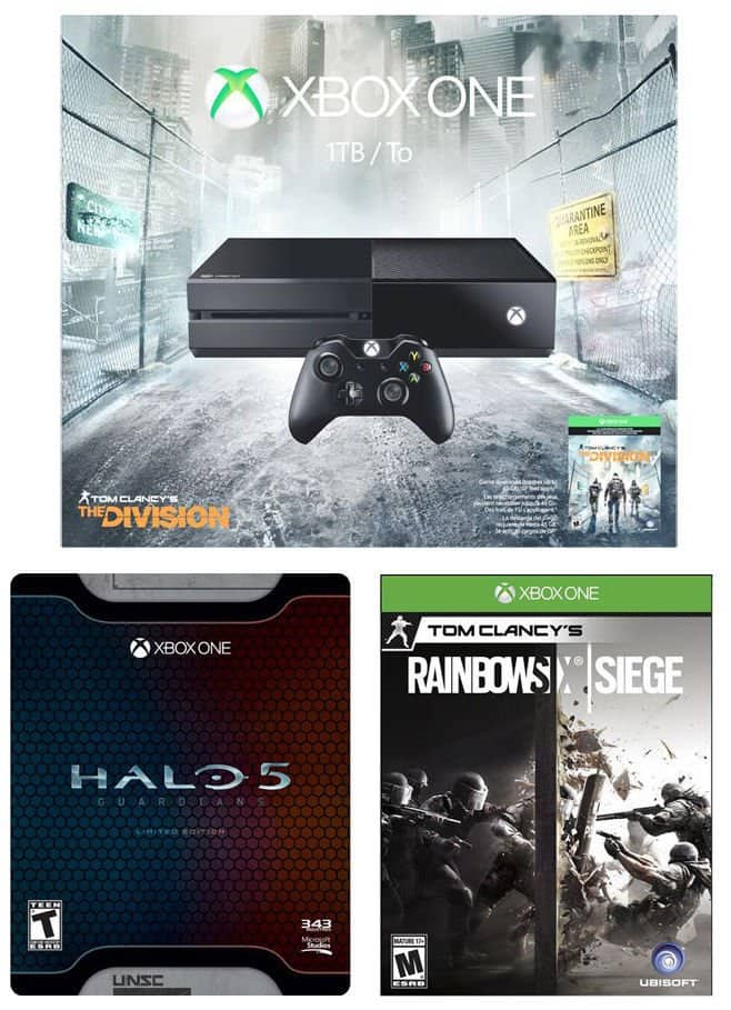 *Starts 08/12/16* Xbox One Tom Clancy Division 1TB Console + Halo 5 Limited Edition + Rainbow Six Siege $250 + Free Shipping (eBay Daily Deal)