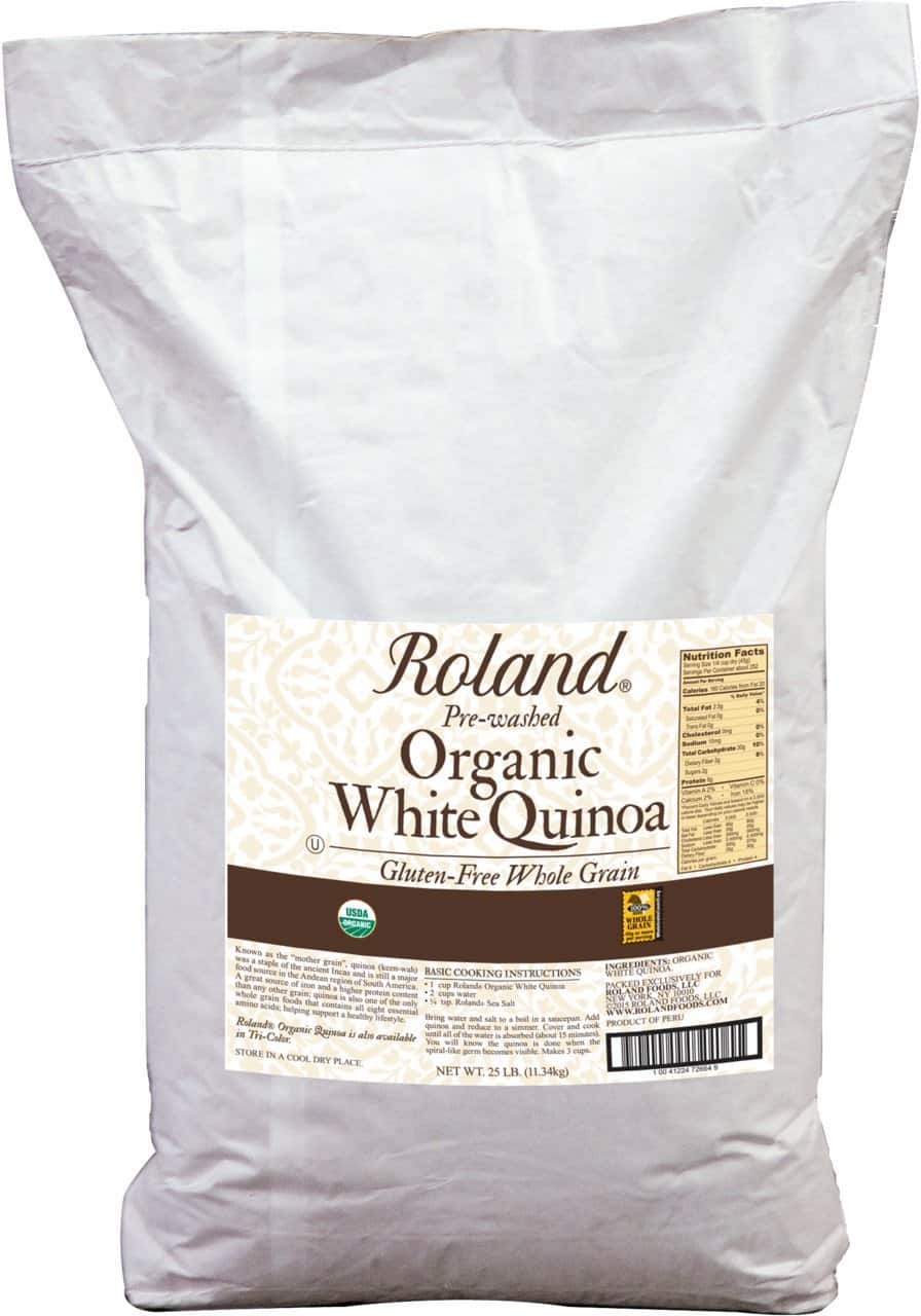 Amazon Fresh Members: 25-lb Roland Foods Organic White Quinoa  $22 (Limited Delivery Areas)