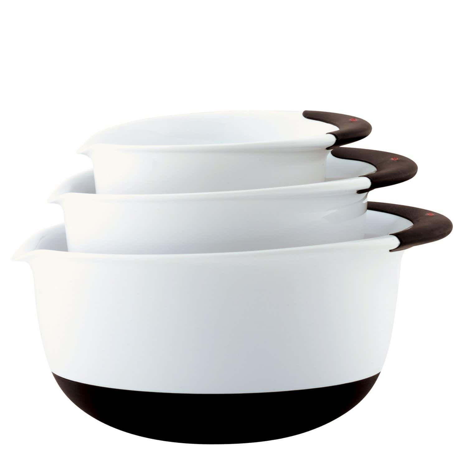 OXO Good Grips Mixing Bowl Set with Black Handles, 3-Piece $10.99 @ Amazon