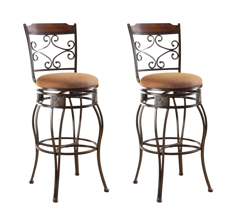 "Set of 2 Acme Tavio 29"" Swivel Bar Chairs  $79 + Free Shipping"