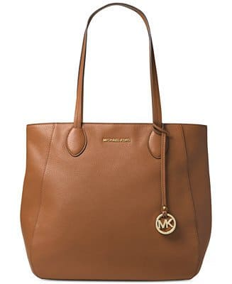 MICHAEL Michael Kors Handbags: Ani North South Top Zip Tote $130, Jet Set Medium Top Zip Snap Pocket Tote $76, Block Monogram Signature Tote $85, More