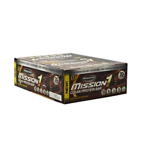 24-ct MuscleTech Mission1 Protein Bars (chocolate brownie) $30 shipped
