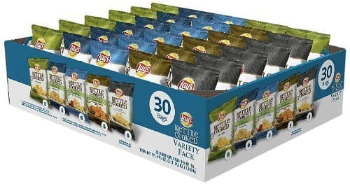 60-ct Lay's Kettle Chips Variety Pack (1.375 oz each): $19.70 (or $17.10) + Free Shipping @ Amazon S&S