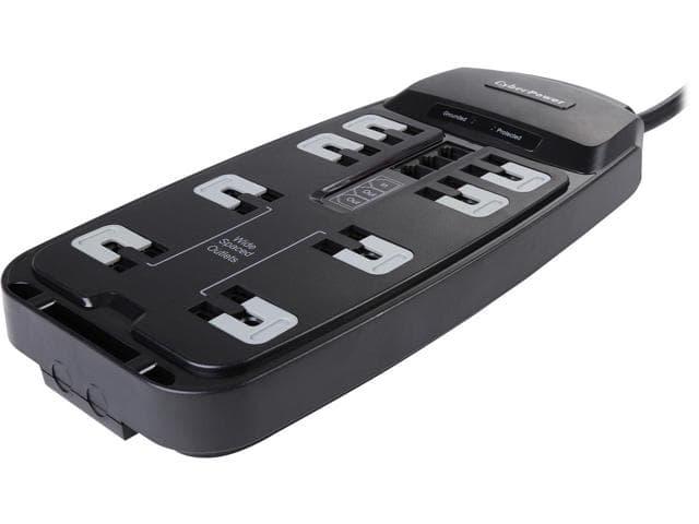 CyberPower 8-Outlet 2250 Joules Surge Protector with 6 Ft. Power Cord (P806T) for $12.99 + Free Shipping @ Newegg.com