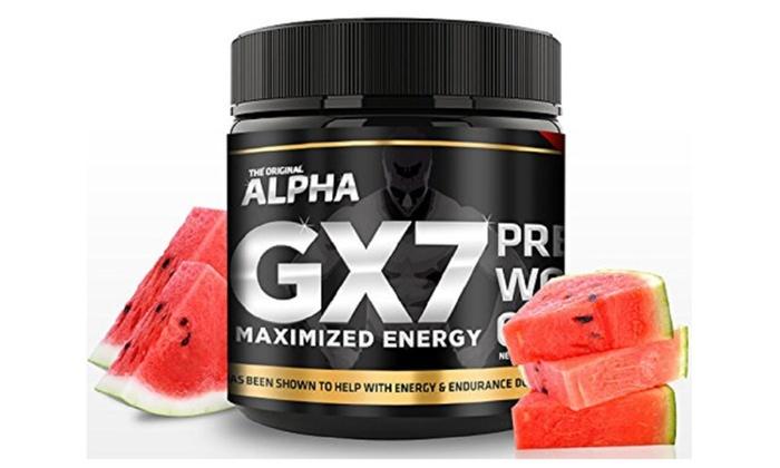 Alpha Gx7 Pre-workout - Watermelon Flavor $19.99 + 2.95 shipping